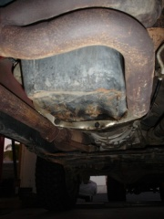 jeep oil pan - bashed in